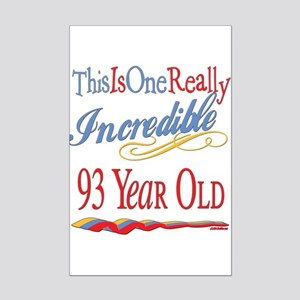 Incredibleat93 Mini Poster Print