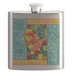 Autumn Quilt Watercolor Flask