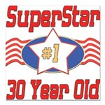SUPERSTARbirthday30.png Square Car Magnet 3