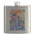 Surreal Seascape Watercolor Flask