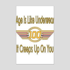BirthdayUnderwear100 copy Mini Poster Print
