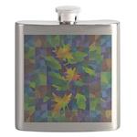 Leaf Mosaic Flask