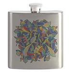 Leaves on Water Watercolor Flask
