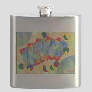 Poker Abstract Watercolor Flask