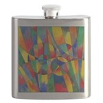 Color Shards Watercolor Flask