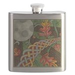 Celtic Harvest Moon Watercolor Flask