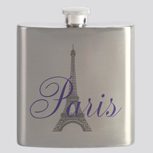 Paris Always (blue) Flask