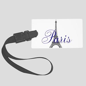 Paris Always (blue) Large Luggage Tag