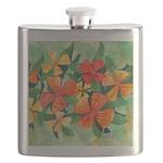 Tropical Flowers Splash Flask