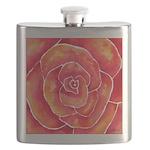 Red-Orange Rose Flask