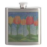 Tulip Trees Watercolor Flask