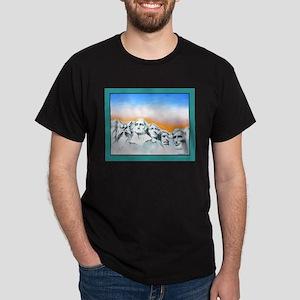 CAT PRESIDENT MT. RUSHMORE Dark T-Shirt