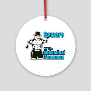Abdominal Snowman Ornament (Round)