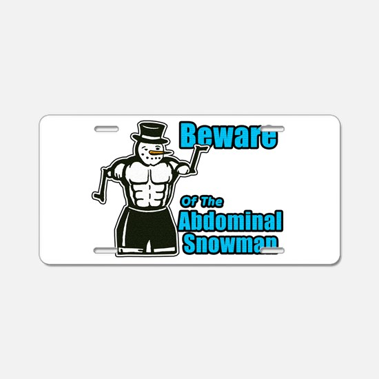 Abdominal Snowman Aluminum License Plate