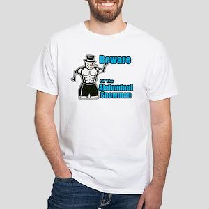 Abdominal Snowman White T-Shirt