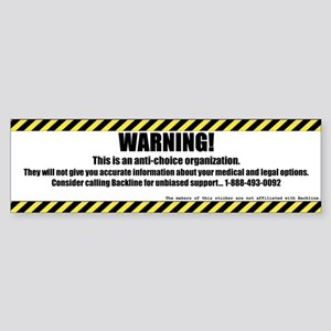 WARNING Rectangle Sticker