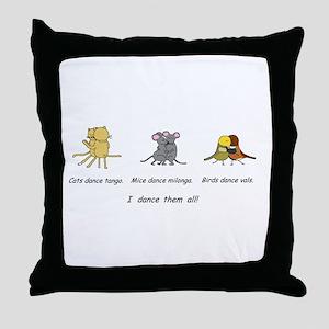 Tango Vals Milonga Throw Pillow