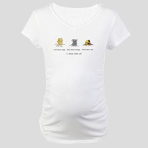 Tango Vals Milonga Maternity T-Shirt