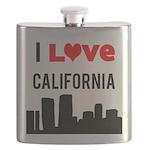 I Love California Flask