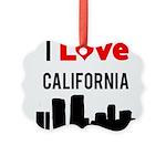 I Love California Picture Ornament