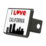 I Love California Rectangular Hitch Cover