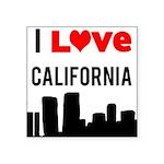I Love California Square Sticker 3