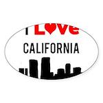 I Love California Sticker (Oval 10 pk)