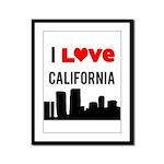 I Love California Framed Panel Print