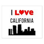 I Love California Small Poster