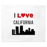 I Love California King Duvet