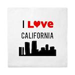 I Love California Queen Duvet