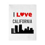 I Love California Twin Duvet