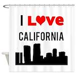 I Love California Shower Curtain