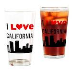 I Love California Drinking Glass
