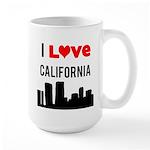 I Love California Large Mug