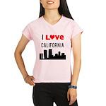 I Love California Performance Dry T-Shirt