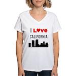 I Love California Women's V-Neck T-Shirt