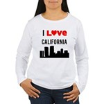 I Love California Women's Long Sleeve T-Shirt