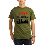 I Love California Organic Men's T-Shirt (dark)
