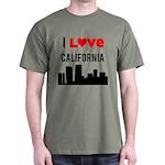 I Love California Dark T-Shirt