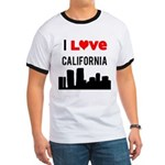 I Love California Ringer T