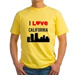 I Love California Yellow T-Shirt