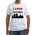 I Love California Fitted T-Shirt