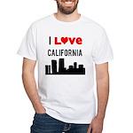 I Love California White T-Shirt
