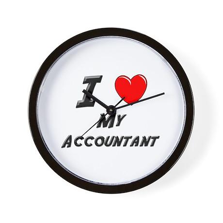 I Love Accountants Wall Clock