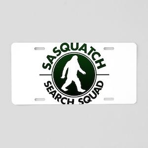 SASQUATCH SEARCH SQUAD Aluminum License Plate