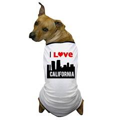 I Love California2.png Dog T-Shirt