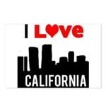 I Love California2 Postcards (Package of 8)