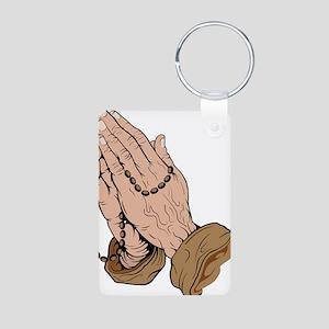 Prayer Aluminum Photo Keychain