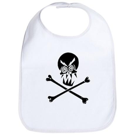 Evil Skull and Bones Bib